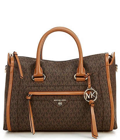 Michael Kors Signature Carine Medium Satchel Bag