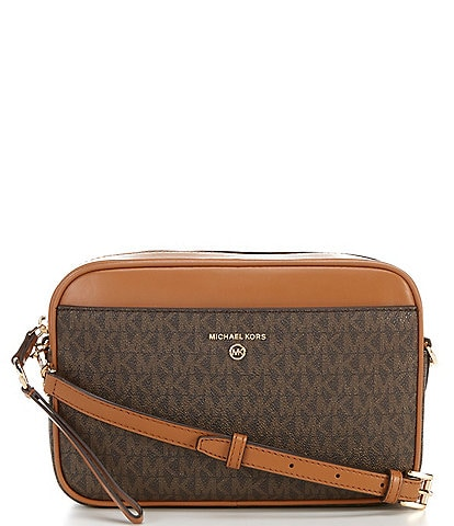 Michael Kors Signature Jet Set Large East West Camera Crossbody Bag