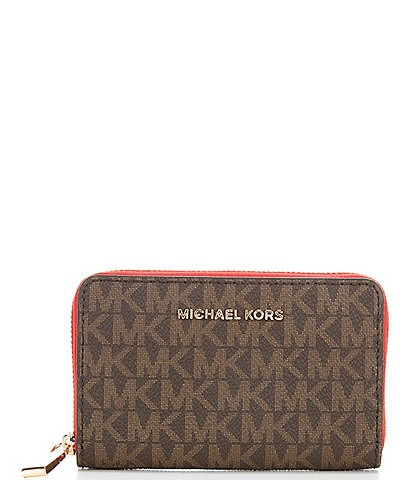MICHAEL Michael Kors Signature Jet Set Small Zip around Card Case