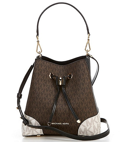 Michael Kors Signature Mercer Gallery Small Colorblock Convertible Bucket Shoulder Bag