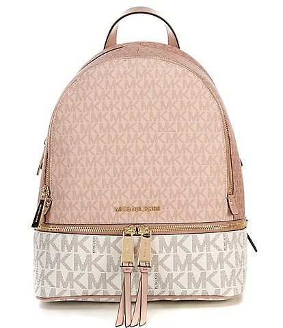 Michael Kors Signature Rhea Zip Medium Tri-Color Backpack