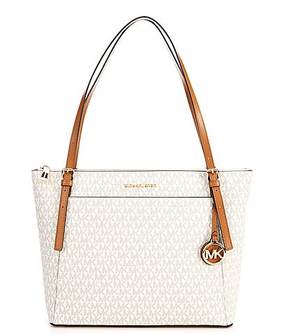 Michael Kors Signature Voyager Large East West Top Zip Tote Bag