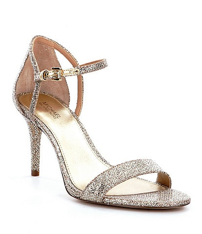 MICHAEL Michael Kors Simone Glitter Ankle Strap Dress Sandals