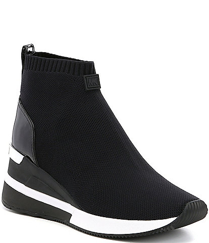 1300bee1f22 MICHAEL Michael Kors Skyler Wedge Sneaker Booties