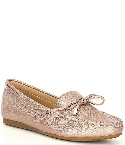 MICHAEL Michael Kors Sutton Pearlized Leather Moc Loafers