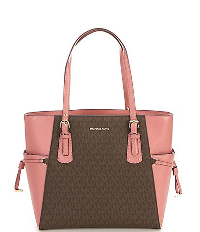 Michael Kors Voyager East West Colorblock Tote Bag