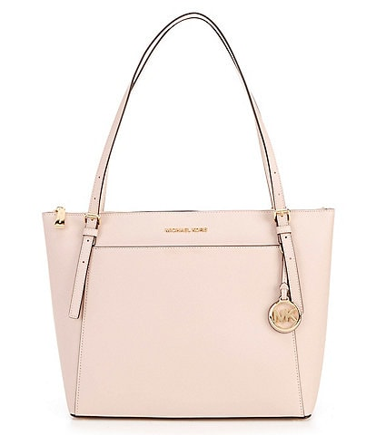MICHAEL Michael Kors Voyager Large East West Top Zip Leather Tote Bag