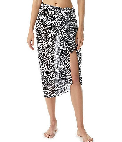 MICHAEL Michael Kors Zebra Pareo Swim Cover Up