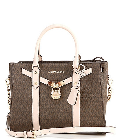 Michael Kors Signature Nouveau Hamilton Large Satchel Bag