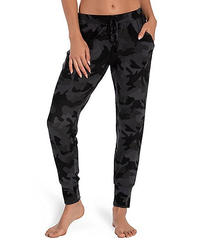 Midnight Bakery Chloe Camouflaged Print French Terry Jogger Lounge Pants