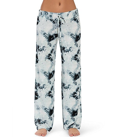 Midnight Bakery Diego Lounge Tie-Dye Print Wide Leg Pants