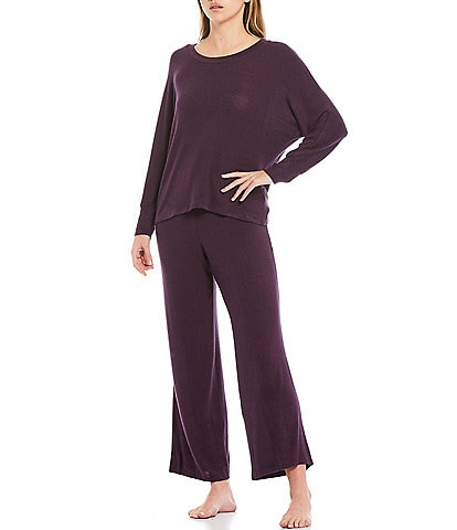 Midnight Bakery Solid Brushed Hacci Pajama Set