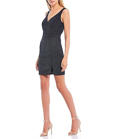 Midnight Doll Sleeveless Glitter Tank Dress