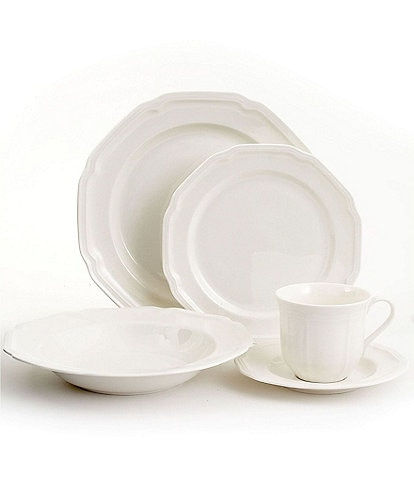 Mikasa Antique White Porcelain 5-Piece Place Setting