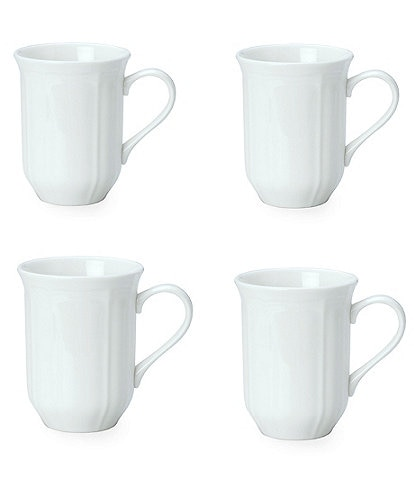 Mikasa 4-Piece Antique White Porcelain Mug Set