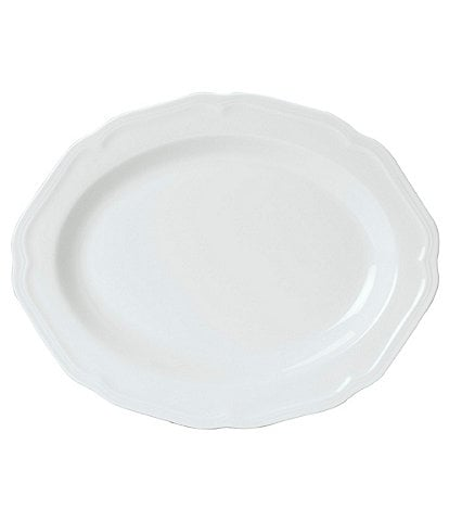 Mikasa Antique White Porcelain Oval Platter