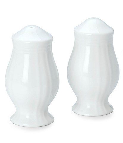 Mikasa Antique White Porcelain Salt & Pepper Shaker Set