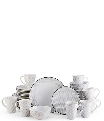 Mikasa Avery Medley Gray 32-Piece Dinnerware Set