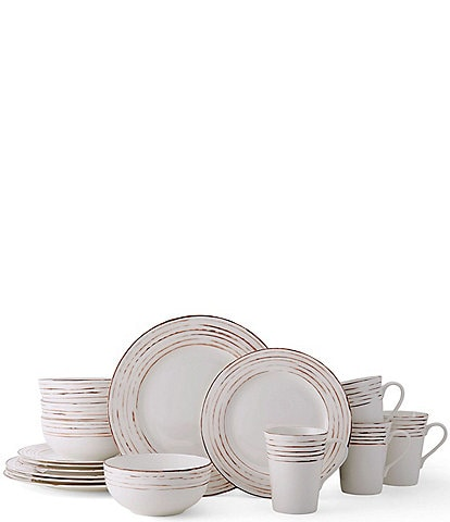 Mikasa Delray Antiqued 16-Piece Dinnerware Set, Service for 4