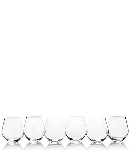Mikasa Gianna All Purpose Stemless Wine Glasses, Set of 6