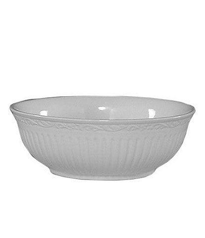 Mikasa Italian Countryside Ridged Floral Stoneware Cereal Bowl