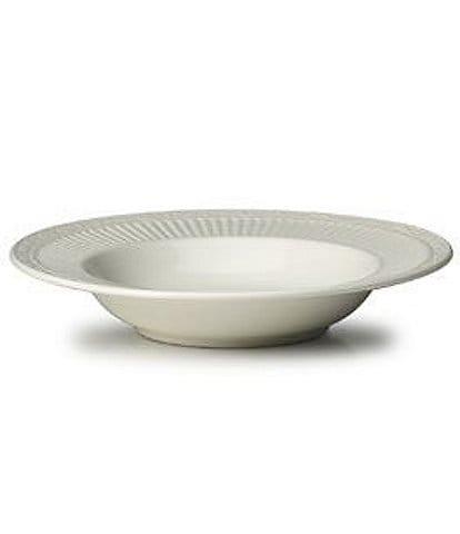 Mikasa Italian Countryside Ridged Floral Stoneware Rimmed Soup Bowl