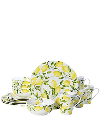 Mikasa Lemons 16-Piece Dinnerware Set, Service for 4