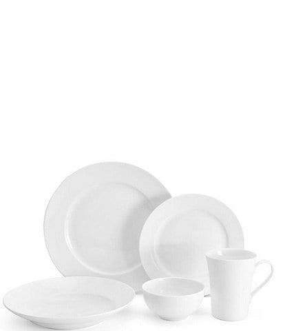 Mikasa Lucerne White 40-Piece Dinnerware Set, Service for 8