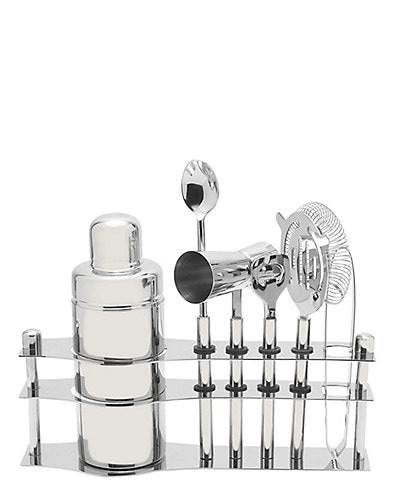 Mikasa Luxe 6-Piece Bar Tool Set on Stand