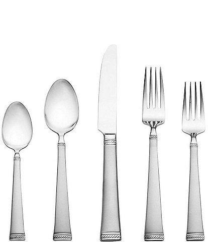 Mikasa Meris Frost 20-Piece Stainless Steel Flatware Set