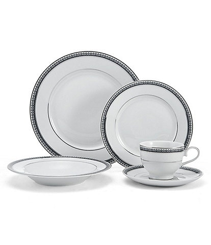 Mikasa Platinum Crown Cobalt 40-Piece Dinnerware Set
