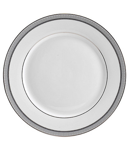 Mikasa Platinum Crown Filigree Platinum Porcelain Dinner Plate