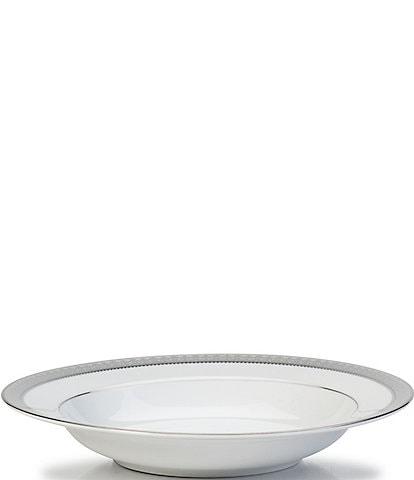 Mikasa Platinum Crown Filigree Platinum Porcelain Soup Bowl