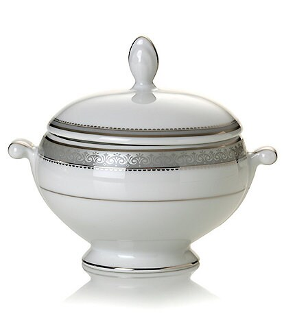 Mikasa Platinum Crown Sugar Bowl with Lid