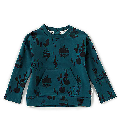 Miles Baby Baby Boys 12-24 Months Green Plant Long Sleeve Top