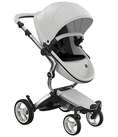 Mima Xari Stroller - Aluminum Chassis with Snow White Reversible Seat and Carrycot