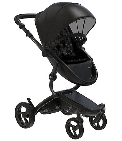 Mima Xari Stroller - Black Chassis with Black Reversible Seat and Carrycot