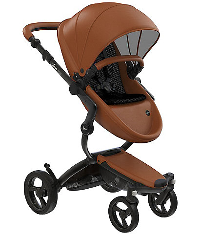 Mima Xari Stroller - Black Chassis with Camel Reversible Seat and Carrycot