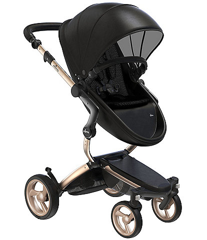 Mima Xari Stroller - Champagne Chassis with Black Reversible Seat and Carrycot
