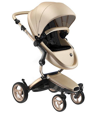 Mima Xari Stroller - Champagne Chassis with Champagne Reversible Seat and Carrycot