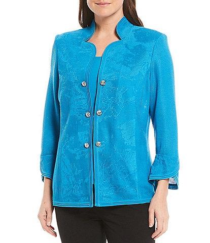 Ming Wang 3/4 Tulip Sleeve Jacket