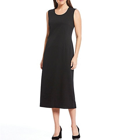 Ming Wang Basic Sleeveless Scoop Neck Tank Dress