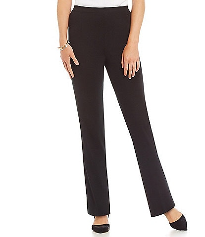 Ming Wang Straight Leg Knit Pull-On Pants