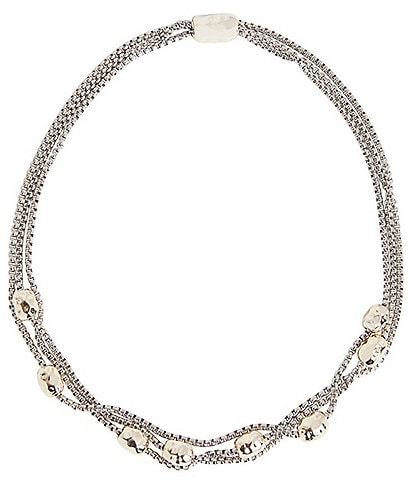 Ming Wang Hammered Ball Two-Tone Necklace
