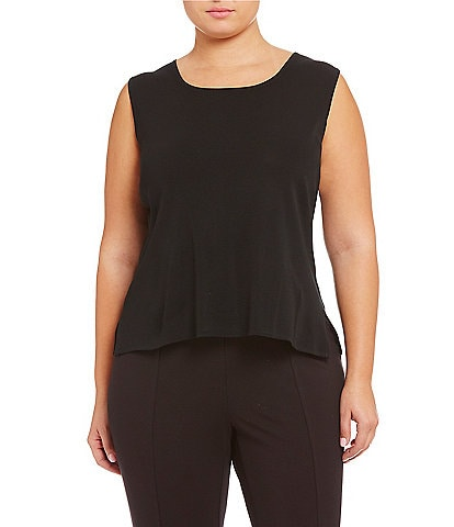 Ming Wang Plus Scoop Neck Sleeveless Tank