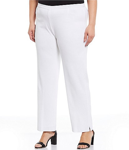 Ming Wang Plus Size Lined Ankle Pull-On Pant