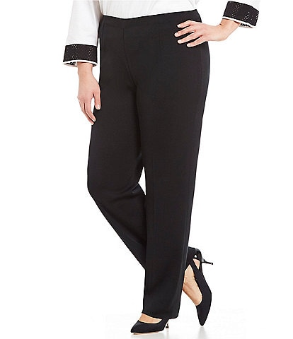 Ming Wang Plus Straight Leg Pants