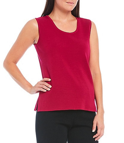 Ming Wang Sleeveless Scoop Neck Tank