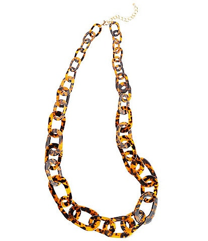 Ming Wang Tortoise Link Long Necklace