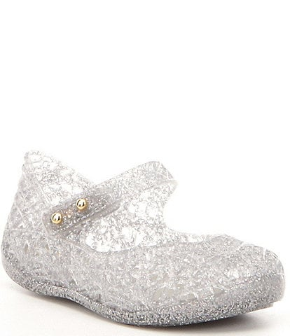 Mini Melissa Girls' Campana VI Zig Zag Glitter Mary Janes (Toddler)